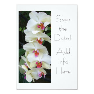 Save the Date Orchid Card