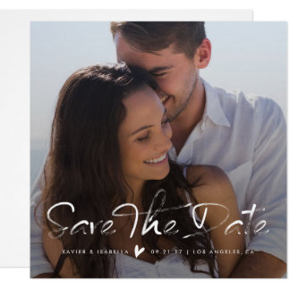 Save The Date Overlay Square Photo Announcement