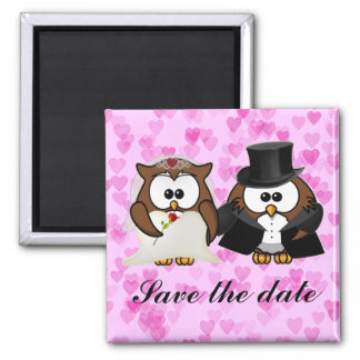 save the date owl magnet