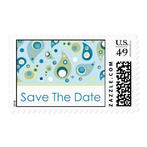 Save The Date - Paisley Postage