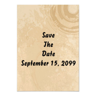 Save The Date (Pale Beige Background) Invitation