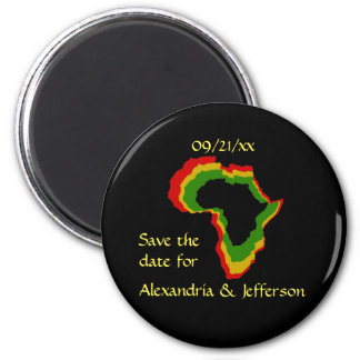 """""""Save the Date"""" - Pan African Colors Magnets"""