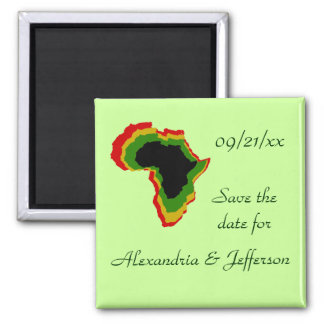 """""""Save the Date"""" - Pan African Colors Refrigerator Magnets"""