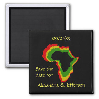 """""""Save the Date"""" - Pan African Colors Fridge Magnet"""