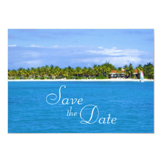 Save the Date Paradise Invitation
