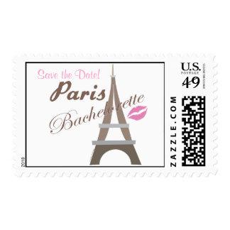 Save the Date Paris Bachelorette Stamps