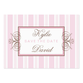 SAVE THE DATE paris stripe Business Card Template