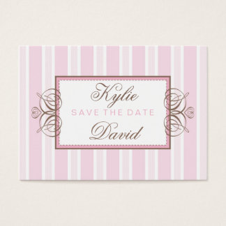 SAVE THE DATE :: paris stripe Business Card