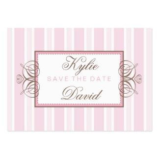 SAVE THE DATE :: paris stripe Large Business Card