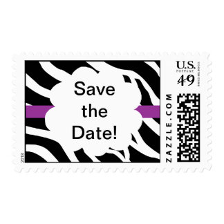 Save The Date Party Zebra Postage