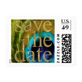 Save the Date Peacock Fantasy Set 1113 Stamp