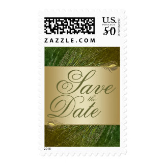 Save the date peacock stamps