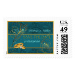 Save the Date Peacock Wedding Postage
