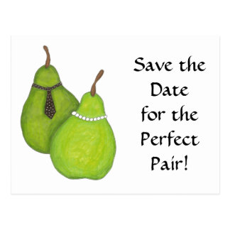 Save the Date Perfect Pair Postcard