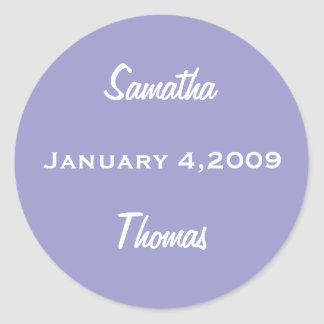 SAVE THE DATE PERIWINKLE STICKER