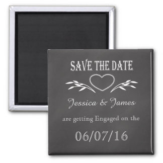Save the Date Personalise Chalkboard Magnet