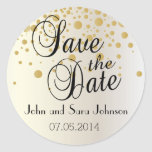 Save the Date   Personalize Classic Round Sticker