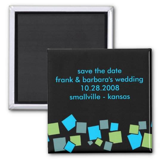 Save the Date Personalized - Blocks Magnet