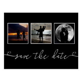 Save The Date Personalized Heart Typography Postcard