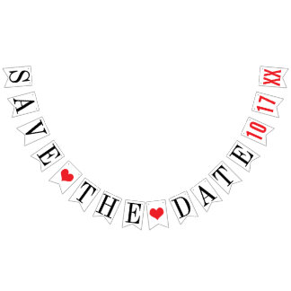 SAVE THE DATE: PERSONALIZED WEDDING DATE BUNTING FLAGS