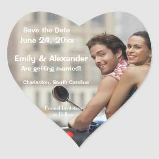 Save the Date Personalized Wedding Photo Sticker
