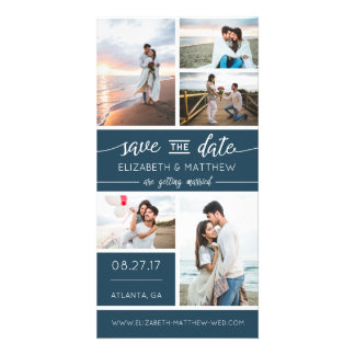 Save The Date Photo Announcement, Editable Color Card