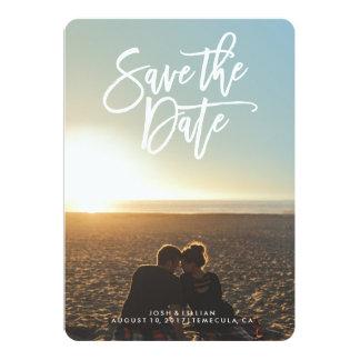 Save the Date photo card, brush script Card