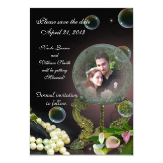 Save the date photo card crystal Ball