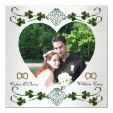Save The Date Photo Card Irish Wedding Unity Knot at Zazzle