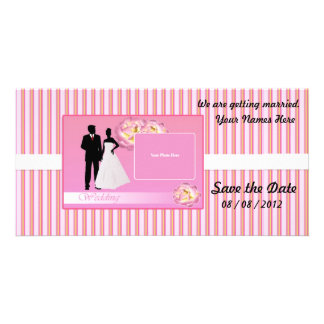 Save the Date Photo Card (Pink)