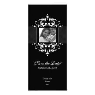 Save the Date Photo Cards Formal Embellishment BW Full Color Rack Card