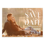 Save the Date Photo - Floral Flourish Typography 5x7 Paper Invitation Card