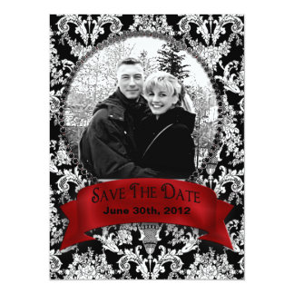 SAVE THE DATE - Photo Insert - Vintage Blk White Card