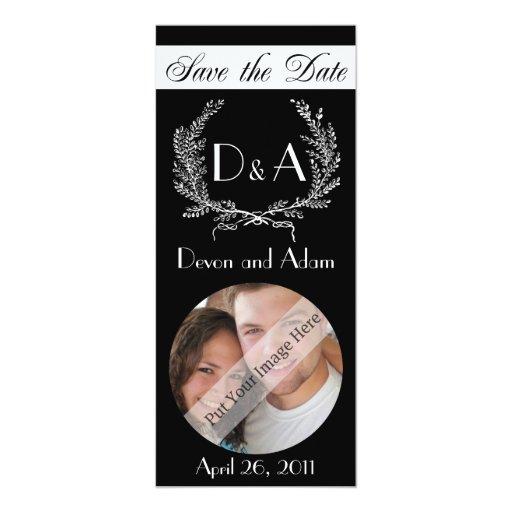 "Save the Date Photo Invitation 4"" X 9.25"" Invitation Card"