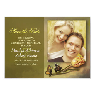 save the date photo invitation with vintage design