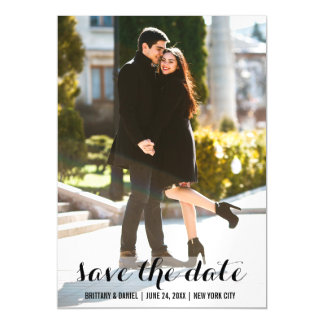 Save The Date Photo Magnetic Invitation 5x7 L