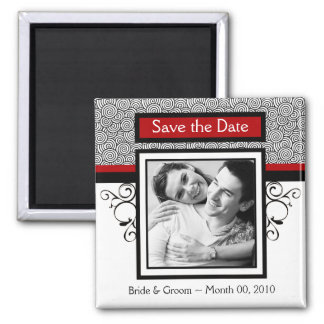 Save the Date Photo Magnets