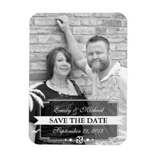 Save the Date Photo Modern Beach Wedding Flexible Magnets
