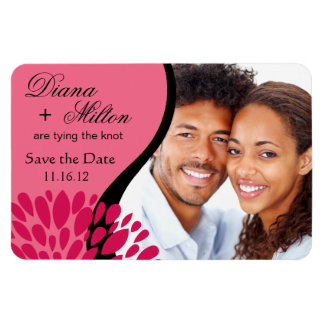 Save the Date Photo | pink fuschia Magnet