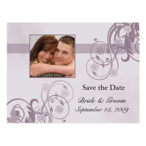 Save the Date Photo Postcard
