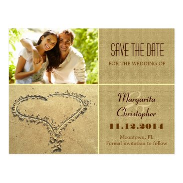 Beach Themed save the date photo postcards