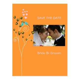 Save the Date Photo postcards, love birds