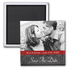 Save The Date Photo Wedding Magnet at Zazzle