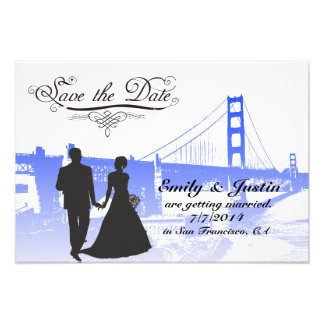 SAVE THE DATE PHOTO WITH VIEW OF SAN FRANCISCO