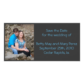 save the date photo greeting card