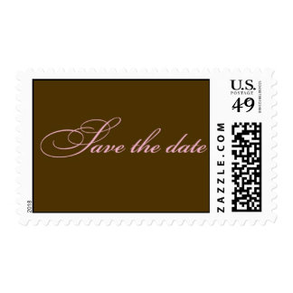 Save the Date - Pink/Brown Stamps