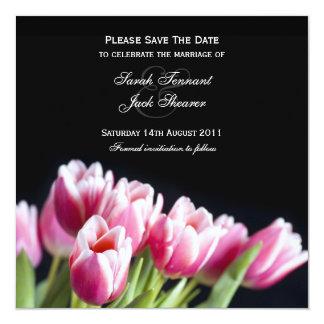 Save the Date Pink Tulip Invitation