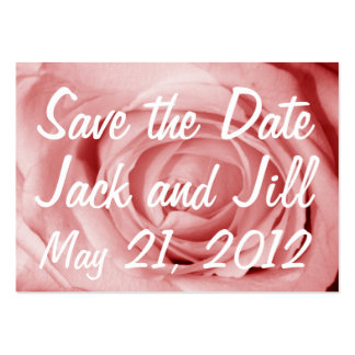 Save the Date Pinkish Large Business Card