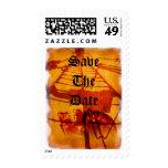 Save The Date Pirate Theme Wedding Nautical Theme Postage Stamp