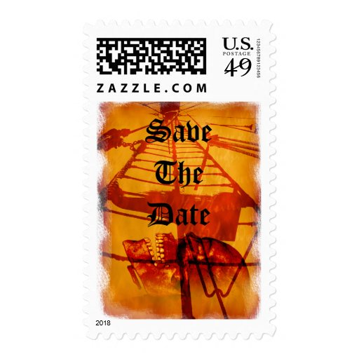 Save The Date Pirate Theme Wedding Nautical Theme Postage Stamp
